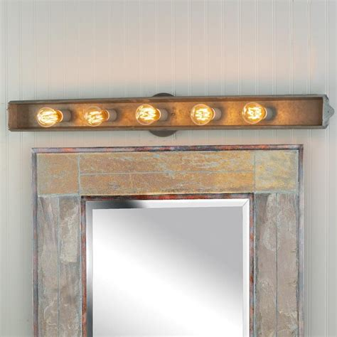 rustic bathroom vanity lighting galvanized rustic vanity light bathroom vanity lighting