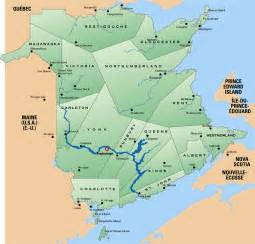 map of new brunswick canada images