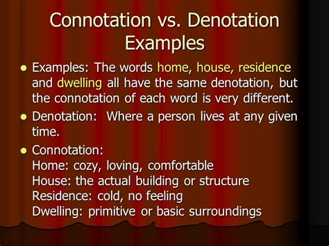 exle of denotation what is figurative language ppt
