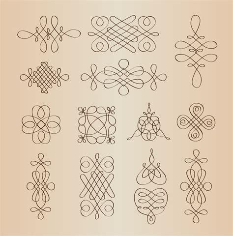 decorative design elements vector vector set of calligraphic decorative design elements