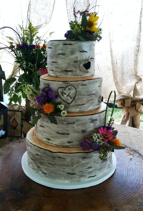 Hochzeitstorte Baum by Birch Tree Wedding Cake Cakecentral