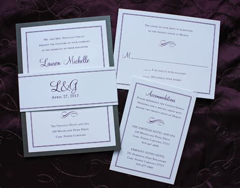 wedding invitation belly bands belly band wedding invitations custom invitations