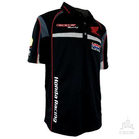 Kaos Polo Honda Racing Team genuine honda crf racing team polo motorcycle accessories australia scm