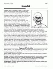 gandhi biography activity gandhi teachervision