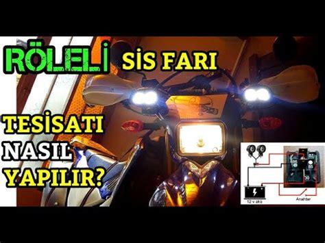 motosiklete roele ile sis fari nasil takilir