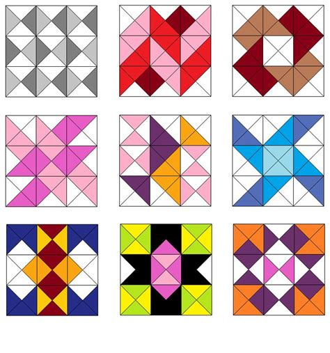triangle with pattern blocks 1000 images about half square triangles quilts on