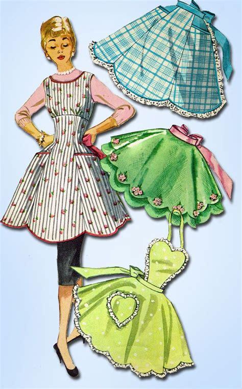 sewing pattern vintage apron 394 best images about vintage apron patterns on pinterest