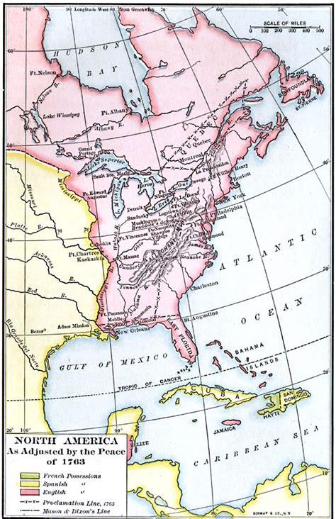 america map in 1763 america