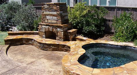 custom outdoor fireplace sacramento outdoor pit