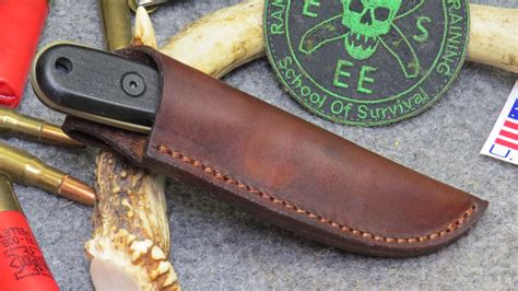 esee candiru leather sheath esee izula i custom leather knife sheath brown 24 65
