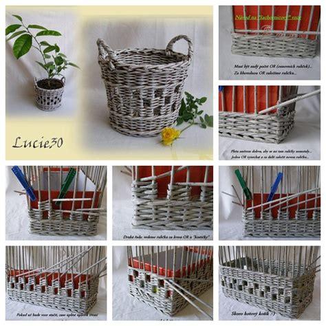 diy newspaper diy basket woven from recycled newspaper