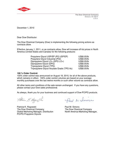 price increase letter request for rate increase sle letter cover letter 1544