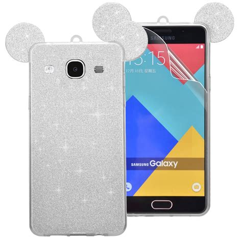 Samsung J5 J510 2016 Silicon 3d Kartun Disney Melody Softcase Hp Lucu soft tpu silicone back for j5 2016 j510 lovely bling glitter mickey mouse ear cover skin