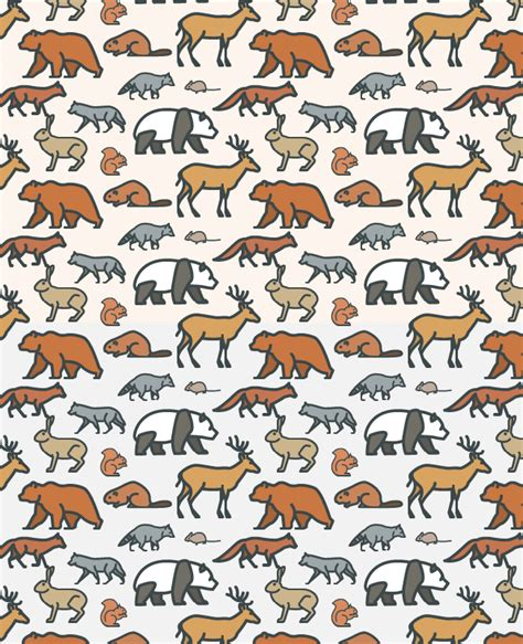 cute pattern animal cute wild animals free seamless vector pattern creative