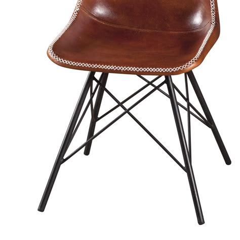 sedia cuoio sedia ferro e cuoio industrial sedie stile industriale