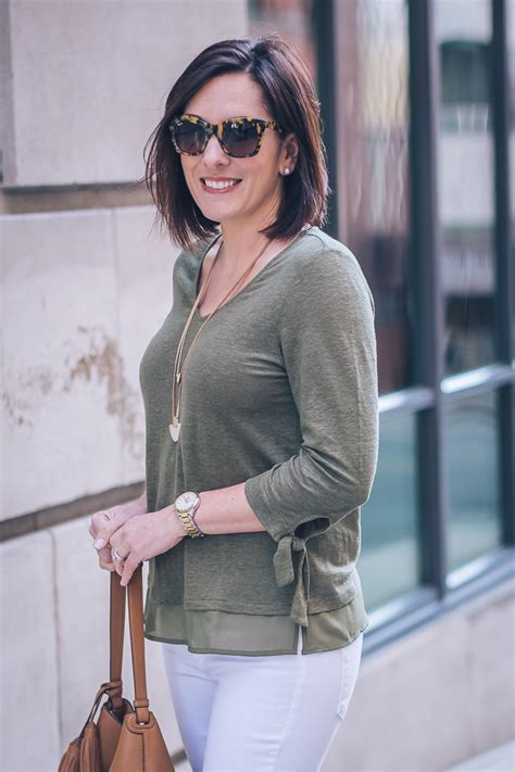 Olive Blouse Jo leopard mules with olive top and white 6