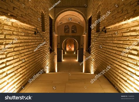 ancient palace interior arab style stock photo 21660835