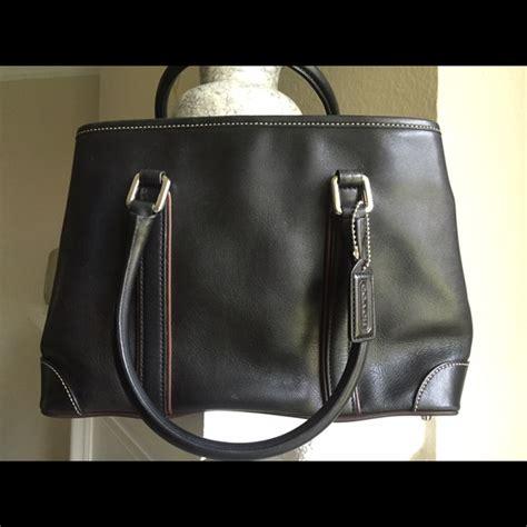 Coach Brown Classic Bag Authentic 64 coach handbags classic coach black brown trim