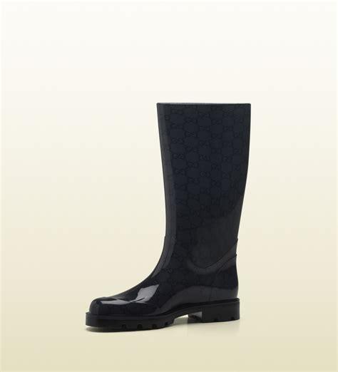 gucci edimburg gg flat boot in black lyst