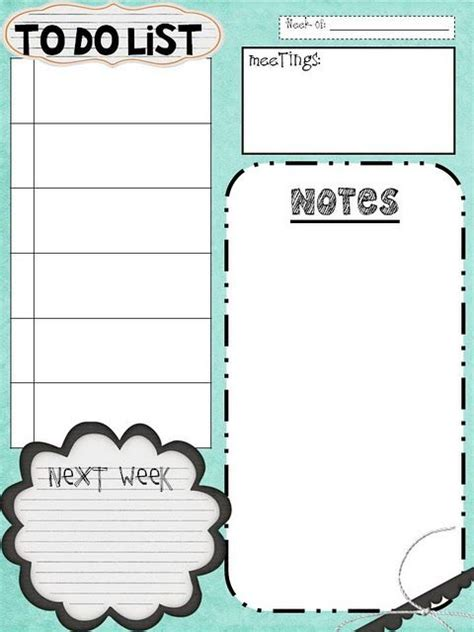 creative to do list template great to do lists and other printable goodies