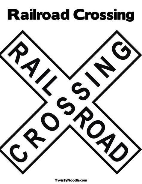 printable railroad signs 5 best images of traffic sign printables for preschoolers