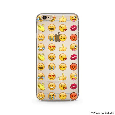 Handphone Iphone 6 6plus 7 7plus Holo Emoji Iphone Iphone 6 Plus Clear Transparent Iphone