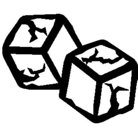 black and white ice cube clip art (16+)