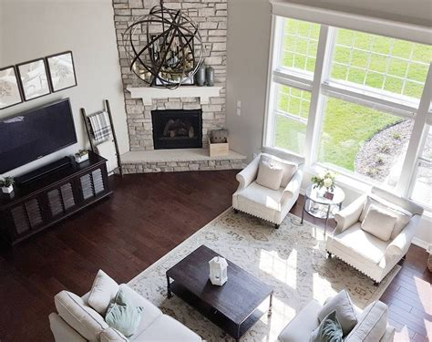 corner fireplace living room pinterest how to decorate a living room with a corner fireplace at