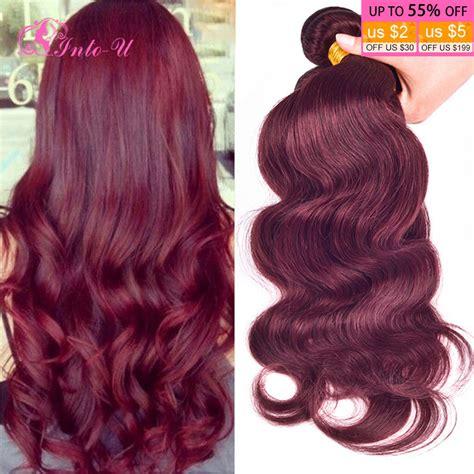 colored hair bundles burgundy weave 6a peruvian hair wave 4 bundles