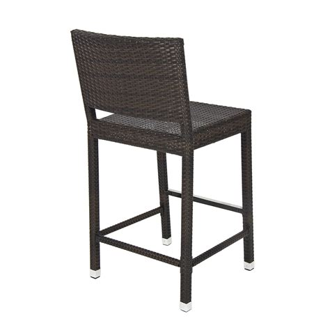Outdoor Wicker Bar Stool Outdoor Wicker Barstool All Weather Brown Patio Furniture New Bar Stool Ebay