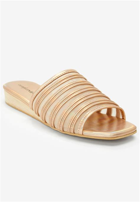 the callista sandal by comfortview 174 plus size casual sandals within