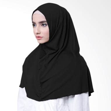 Jilbab Instan Hitam Jilbab Katun Najwa Jual Produk Terbaru Terlengkap