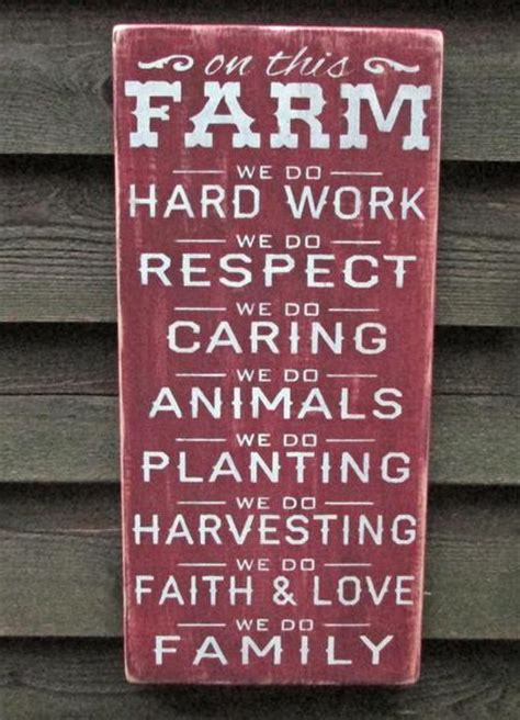 painted wood signs home decor rustic farm sign primitive home decor wood sign