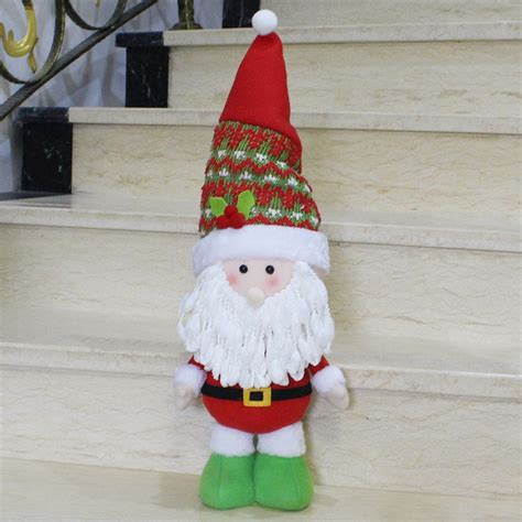 large size standing style christmas home decoration santa