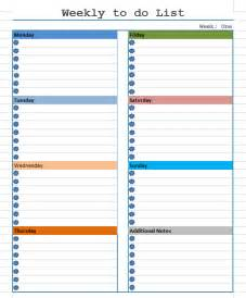 weekly list template weekly to do list template free layout format