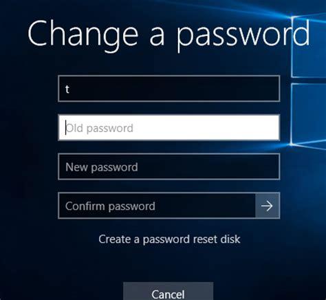windows reset expired password windows 10 unable to change domain password when