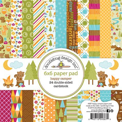doodlebug scrapbooking doodlebug design happy cer 6 x 6 paper pad
