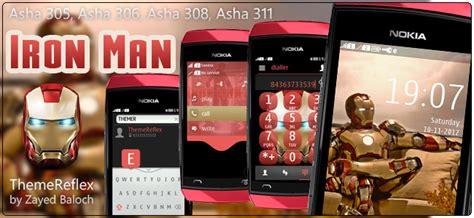 themes for nokia asha 311 touch screen iron man theme for nokia asha 305 asha 306 asha 308