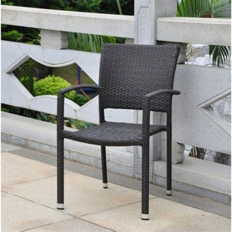 wicker resin patio chairs resin wicker aluminum patio dining chair set of 2 4210