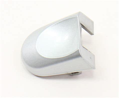 rh exterior door handle thumb cap   vw beetle law silver