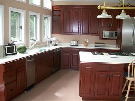 painted oak kitchen cabinets painting mobile home cabinets home painting ideas
