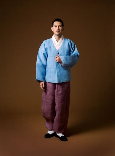 a in hanbok consisting of jeogori jacket and
