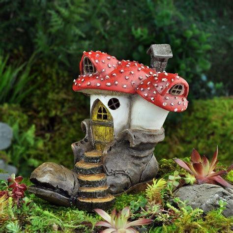 miniature  boot clodhopper mushroom house cottage