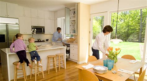 how to decorate a kitchen or dining room of a small house