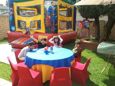 Mickey Mouse Table And Chair Set Superman Theme Birthday Party Table Set Up Decoration