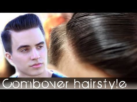 comb over men's hair   classic hairstyle tutorial