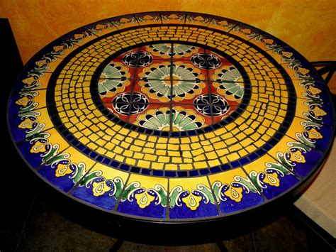 Mosaic Patio Table Top Tile And Glass Mosaic Tables