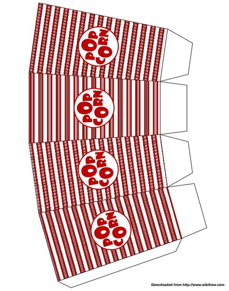 popcorn box template patterns