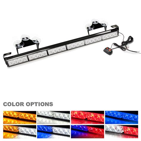 strobe light bar ediors emergency warning traffic advisor 24 led 27