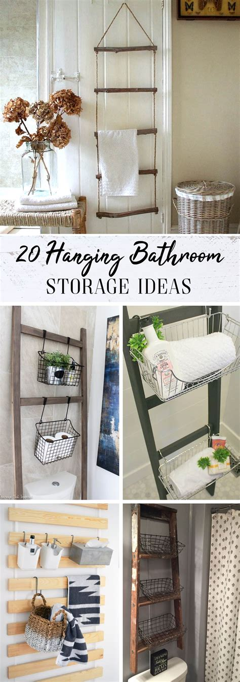 hanging bathroom storage 20 hanging bathroom storage ideas the most of the
